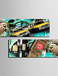 Недорогие -С картинкой Роликовые холсты Отпечатки на холсте - Пейзаж Архитектура Modern