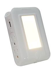 Недорогие -1pc настенное зарядное устройство с двойным USB-подсветкой 4 розетки для зарядки аккумулятора с питанием от сети с защитой от перенапряжений с держателем телефона