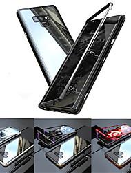 Недорогие -Кейс для Назначение SSamsung Galaxy Note 9 / Note 8 Полупрозрачный Чехол Однотонный Твердый Закаленное стекло