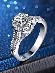 abordables -Femme Classique Bague - Platiné, Imitation Diamant Amour Classique, Romantique 6 / 7 / 8 / 9 / 10 Argent Pour Mariage Fiançailles