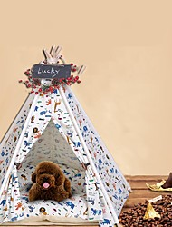 Недорогие -Собаки / Коты Кровати Животные Коврики и подушки Животное Сохраняет тепло / Мягкий / Световой тент Белый Для домашних животных