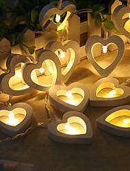 Недорогие -HKV 2м Гирлянды 20 светодиоды Тёплый белый Творчество / Декоративная Аккумуляторы AA 1шт