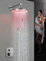 baratos -torneira do chuveiro - contemporânea válvula de latão cromado na parede levou