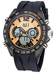 Недорогие -ASJ Муж. Спортивные часы электронные часы Японский Кварцевый силиконовый Черный / Небесно-голубой 30 m Защита от влаги Календарь Секундомер Аналого-цифровые На каждый день Мода - Черный Синий