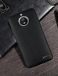 Недорогие -Кейс для Назначение Motorola MOTO G6 / G5 Plus Ультратонкий / Матовое Кейс на заднюю панель Однотонный Мягкий Углеродное волокно для Moto Z2 play / MOTO G6 / Moto G5s Plus