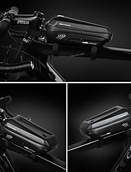 baratos -INBIKE Bolsa para Quadro de Bicicleta Prova-de-Água, Portátil, Ciclismo Bolsa de Bicicleta PU Leather / Poliéster / EVA Bolsa de Bicicleta Bolsa de Ciclismo Ciclismo Moto