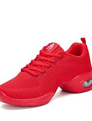 abordables -Femme Baskets de Danse Tricot Basket Talon épais Personnalisables Chaussures de danse Blanc / Noir / Rouge