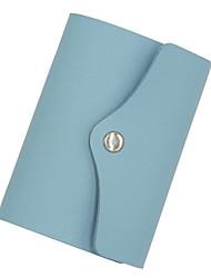 Недорогие -PU Сплошной цвет Визитница / бумажник Однотонные Сплошной цвет Морской синий / Небесно-голубой / Розовый