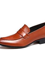 Недорогие -Муж. Официальная обувь Искусственная кожа Наступила зима На каждый день / Шинуазери (китайский стиль) Мокасины и Свитер Водостойкий Контрастных цветов Черный / Желтый / Красный / Офис и карьера
