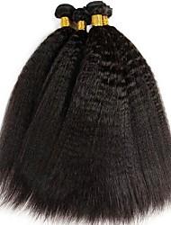Недорогие -4 Связки Индийские волосы Яки 8A Натуральные волосы Человека ткет Волосы Пучок волос One Pack Solution 8-28 дюймовый Нейтральный Ткет человеческих волос Машинное плетение