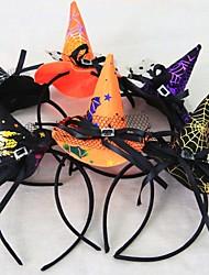 Недорогие -1pcs женщин девушки мода колдун шляпу оголовье Хэллоуин черный кружево волосы группы танца партии бутик обруча волос случайным