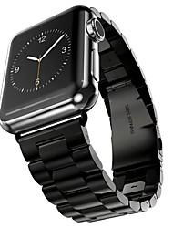 abordables -Acier Inoxydable Bracelet de Montre  Sangle pour Apple Watch Series 3 / 2 / 1 Noir / Argent / Doré 23cm / 9 pouces 2.1cm / 0.83 Pouces