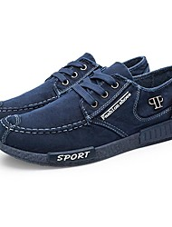 abordables -Homme Toile de jean Printemps / Automne Confort Basket Marche Gris / Bleu