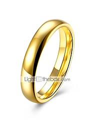 Недорогие -Жен. Кольцо 1шт Золотой Титановая сталь Круглый Геометрической формы Дамы Классика Классический Свадьба Повседневные Бижутерия Классический Стильные Креатив Cool