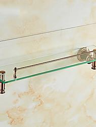 Недорогие -Полка для ванной Новый дизайн / Cool / Многофункциональный Modern стекло / Нержавеющая сталь / железо 1шт На стену