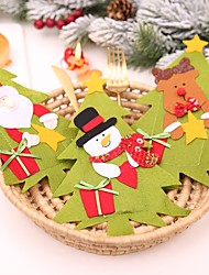 Недорогие -Аксессуары для вечеринок Рождество / Вечеринка / ужин Хранение посуды Нетканые Новогодняя тематика / Костюмы Санта Клауса / Elk