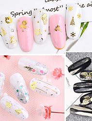 billige -1 pcs Pailletter Klassisk / Slankt design Ferie Eventyr Tema Negle kunst Manicure Pedicure Jul / Daglig Basale / Natur