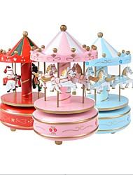 Недорогие -1pcs красивейшая игрушка нот карусели фантазии карусели карусели с проблесковым светом рождения рождественские подарки дети игрушки для детей случайный цвет