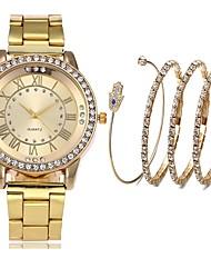 Недорогие -Для пары Часы-браслет Кварцевый Серебристый металл / Золотистый / Розовое золото Секундомер Творчество Новый дизайн Аналоговый На каждый день Мода - Розовое золото Серебристый / белый Золото / Белый