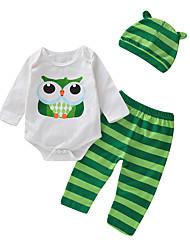 abordables -bébé Garçon Actif / Basique Quotidien / Sortie Imprimé Manches Longues Normal Coton / Polyester Ensemble de Vêtements Blanc / Bébé