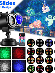 Недорогие -Светодиодный прожектор с подсветкой для рождественских волн Рождественский проекционный светильник с 16 переключаемыми паттернами с подсветкой для празднования Хэллоуина и праздничного оформления