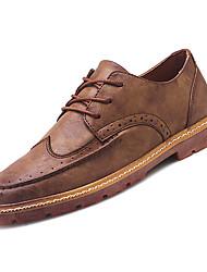 abordables -Homme Bullock Chaussures Polyuréthane Automne Décontracté Basket Augmenter la hauteur Noir / Marron / Kaki