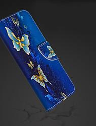 billige -Etui Til Apple iPhone XR / iPhone XS Max Pung / Kortholder / Med stativ Fuldt etui Sommerfugl Hårdt PU Læder for iPhone XS / iPhone XR / iPhone XS Max