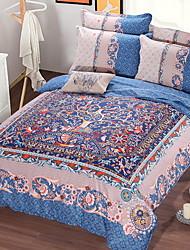 baratos -conjuntos de capa de edredão polyster reativa geométrica 4 conjuntos de cama de cama / 4 pcs (1 capa de edredão, 1 folha plana, 2 shams) rainha