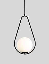 Недорогие -Круглый Подвесные лампы Рассеянное освещение Окрашенные отделки Металл Стекло Творчество 110-120Вольт / 220-240Вольт Теплый белый