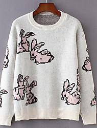 billige -Dame Basale Pullover - Ensfarvet / Geometrisk / Dyr