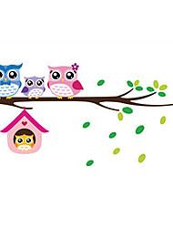 Недорогие -Декоративные наклейки на стены - Простые наклейки Животные / Цветочные мотивы / ботанический В помещении / Детская