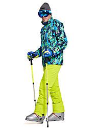 baratos -Wild Snow Homens Calças & Jaquetas de Esqui A Prova de Vento, Quente, Ventilação Esqui / Equitação / Multi-Esporte Poliéster Conjuntos de Roupas Roupa de Esqui