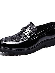 abordables -Homme Chaussures Formal Faux Cuir Automne Décontracté Mocassins et Chaussons+D6148 Couleur Pleine Or / Noir / Argent / Mariage / Soirée & Evénement