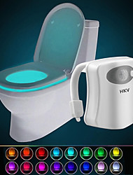 Недорогие -hkv® 16 цветной беспроводной инфракрасный инфракрасный инфракрасный датчик движения pir led туалетная лампа батарея с питанием ночной свет домашняя ванная комната