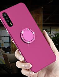 Недорогие -Кейс для Назначение Huawei P20 Pro / P20 lite Кольца-держатели / Ультратонкий / Матовое Кейс на заднюю панель Стразы Мягкий ТПУ для Huawei P20 / Huawei P20 Pro / Huawei P20 lite