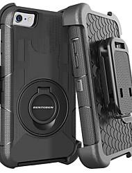 Недорогие -BENTOBEN Кейс для Назначение Apple iPhone 8 / iPhone 7 Защита от удара / Кольца-держатели / Матовое Чехол Однотонный Твердый Силикон / ПК для iPhone 8 / iPhone 7 / iPhone 6s