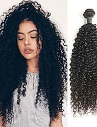 Недорогие -1 комплект Индийские волосы Мелкие кудри 10A человеческие волосы Remy Накладки из натуральных волос 8-26 дюймовый Нейтральный Ткет человеческих волос