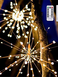 Недорогие -YWXLIGHT® 1шт LED Night Light Тёплый белый / RGB + теплый Аккумуляторы AA Водонепроницаемый / Дистанционно управляемый / Диммируемая 5 V