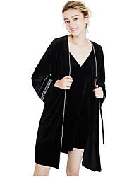 Недорогие -Жен. Сексуальные платья Костюм Ночное белье Однотонный / V-образный вырез