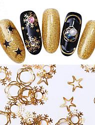 baratos -1 pcs Jóias de Unhas Clássico / Melhor qualidade Natal Estrela arte de unha Manicure e pedicure Natal / Festa / Noite / Escritório / Carreira Artistíco / Lolita Aristocrata