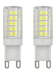 Недорогие -3w g9 мини-кукурузный колпачок 2835 smd 64 светодиодных светильника для домашнего освещения холодный белый теплый белый ac 220v - 240v (2 шт)