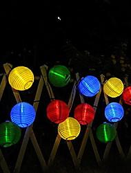 Недорогие -5 метров Гирлянды 20 светодиоды Тёплый белый Работает от солнечной энергии / Декоративная Солнечная энергия 1 комплект