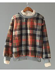 お買い得  -女性の長袖プルオーバー - ストライプ