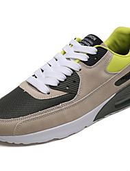abordables -Homme Chaussures de confort Tricot / Matière synthétique Printemps Sportif / Rétro Chaussures d'Athlétisme Course à Pied Augmenter la hauteur Noir et blanc / Vert / Vin