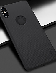 Недорогие -Nillkin Кейс для Назначение Apple iPhone XS / iPhone XS Max Защита от удара / Матовое Кейс на заднюю панель Однотонный Твердый ПК для iPhone XS / iPhone XR / iPhone XS Max