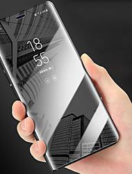 Недорогие -Кейс для Назначение Apple iPhone XR / iPhone XS Max Защита от удара / со стендом / Покрытие Чехол Однотонный Твердый ПК для iPhone XS / iPhone XR / iPhone XS Max