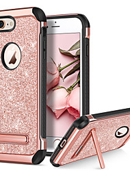 abordables -BENTOBEN Coque Pour Apple iPhone 8 / iPhone 8 Plus Antichoc / Avec Support / Plaqué Coque Brillant Dur faux cuir / TPU / PC pour iPhone 8 Plus / iPhone 8 / iPhone 7 Plus