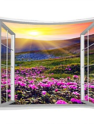Недорогие -Пейзаж / Семья Декор стены 100% полиэстер Modern Предметы искусства, Стена Гобелены Украшение