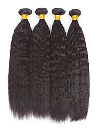 voordelige -4 bundels Birmees haar YakiRecht 8A Echt haar Niet verwerkt Menselijk Haar Menselijk haar weeft Verlenging Bundle Hair 8-28 inch(es) Natuurlijke Kleur Menselijk haar weeft Eenvoudig Feest nieuwe