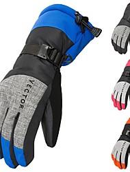 Недорогие -Зимние / Лыжные перчатки Муж. / Жен. Полный палец С защитой от ветра / Водонепроницаемость / Сохраняет тепло Волокно Катание на лыжах / Снежные виды спорта / Сноубординг Осень / Зима
